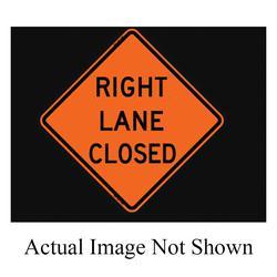 """48"""" HI-VIZ """"LANE ENDS MERGE RIGHT ROLL UP SIGN"""
